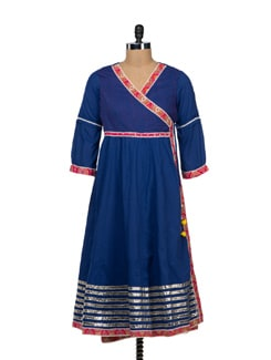 Ethnic Indigo Anarkali - VINTAGE EARTH