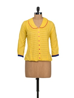 Elegant Yellow Shirt - VINTAGE EARTH