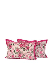 Bright Pink Flower Pillow Cover - SWAYAM