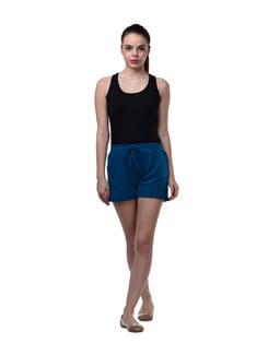 Blue Stretch Cotton Shorts - GRITSTONES