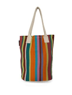 Bright Summer Woven Cotton Bag - Ambbi Collections