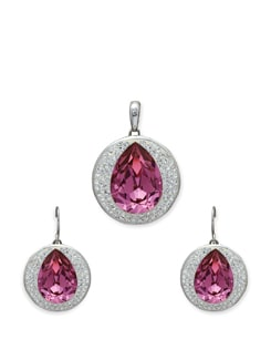 Elegant Pink Stone Pendant Set - Sparkling Deals