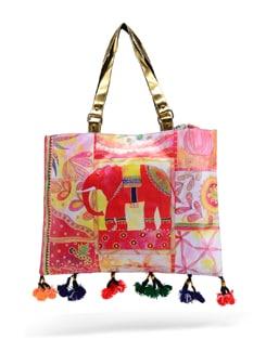 Elephant Print Bag - The House Of Tara 23346