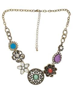 Antique & Multicoloured Necklace - THE PARI