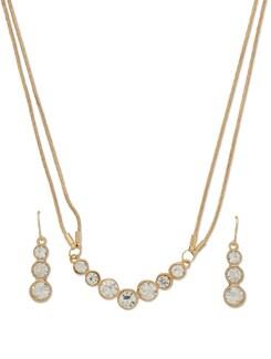Dazzling Gold Necklace Set - THE PARI