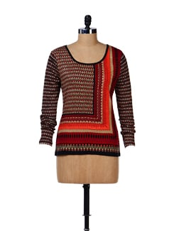 Tribal Print Top - House Of Tantrums