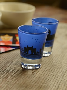 Quirky Prints Shot Glasses - Set Of 2 - Mad(e) In India