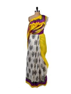 Designer Hand Print Saree - ROOP KASHISH