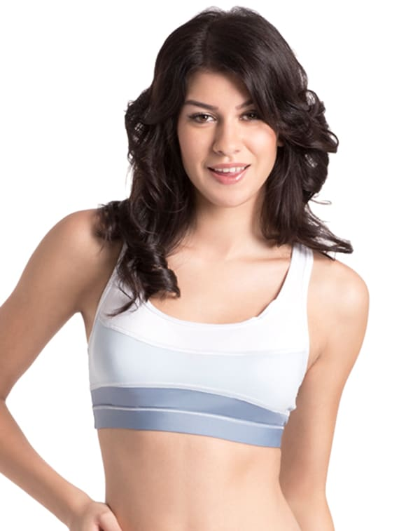 25a7967440793 Buy White Blue Summer Carter Sports Bra by Prettysecrets - Online shopping  for Bra in India