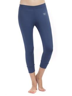 Blue Stretch Capri Pants - PrettySecrets