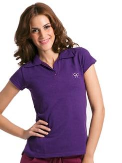Purple Active Short Sleeve Polo - PrettySecrets