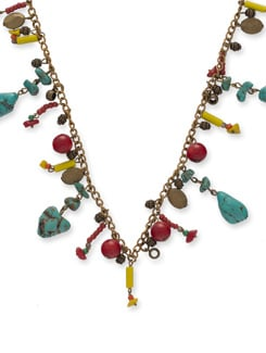Multicoloured Beaded Necklace - Ivory Tag