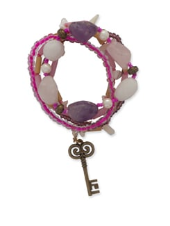 Lilac Key Bracelet - Ivory Tag
