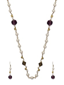 Delicate Gold & Purple Jewellery Set - Ivory Tag
