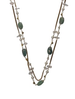Ethnic Green-Gold Jewellery Set - Ivory Tag