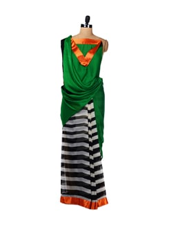 Trendy Stripes Saree - ROOP KASHISH