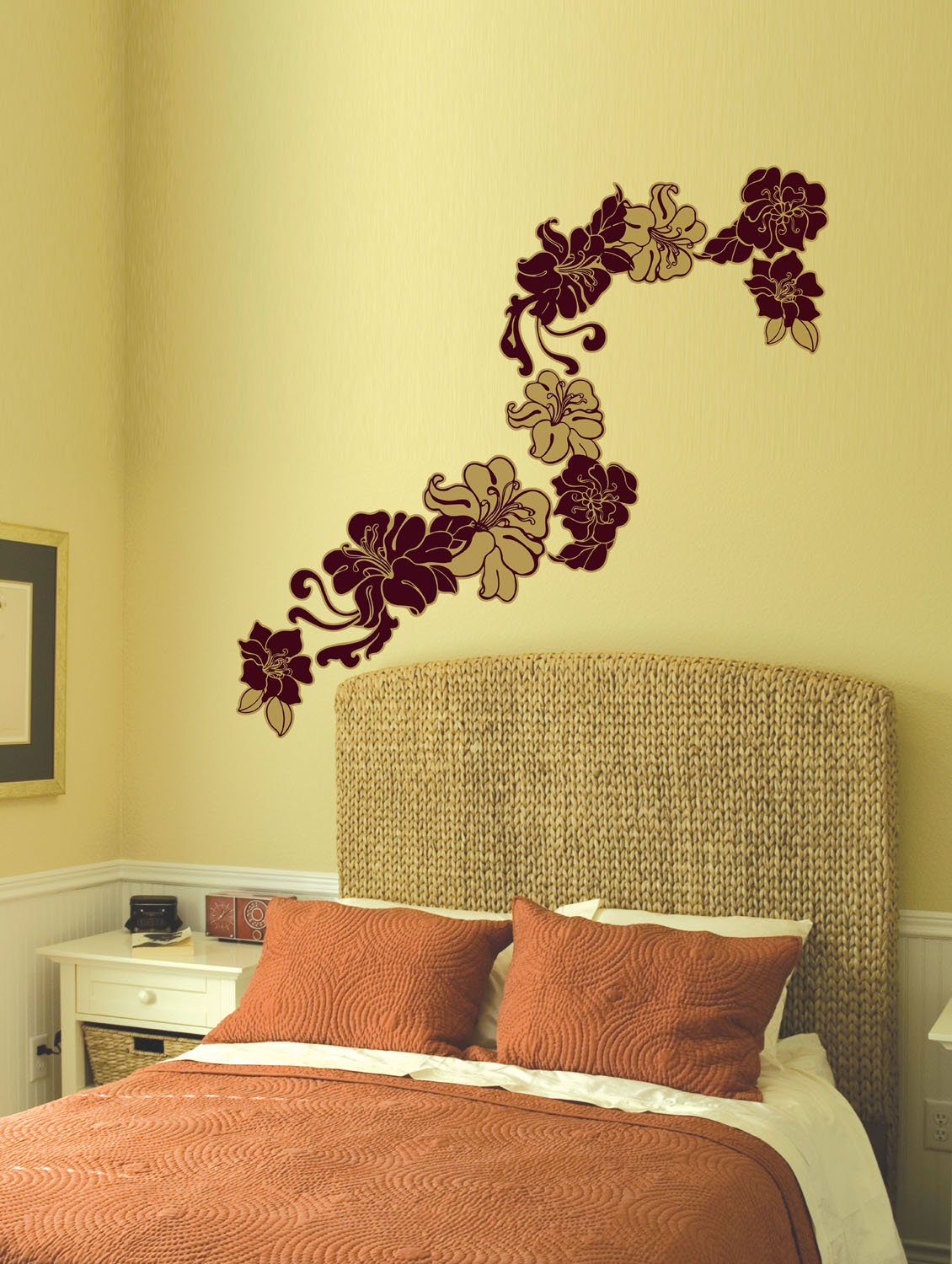 Buy Art Noveau Floral Wall Sticker by Home Decor Line - Online ...