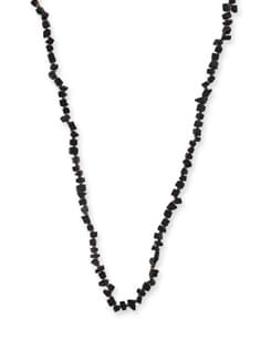 Trendy Black Long Necklace - Ivory Tag