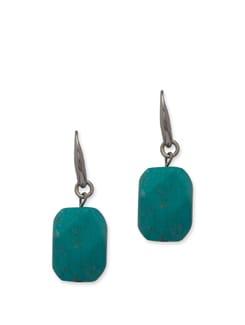 Elegant Turquoise Blue Drop Earrings - Ivory Tag