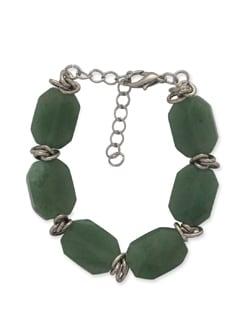 Soft Green & Silver Bracelet - Ivory Tag