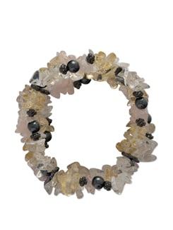 Pure Crystalline Stretch Bracelet - Ivory Tag