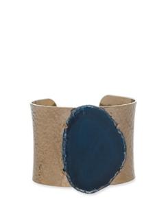 Swirly Blue Agate Bracelet - Ivory Tag