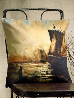 Seascape Print Cushion Cover - Veva's