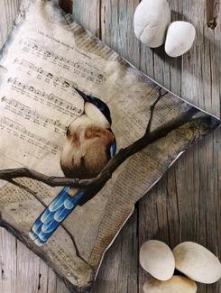 Humming Bird Print Cushion Cover - Veva's