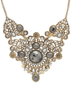 Gold Statement Vintage Necklace - THE PARI