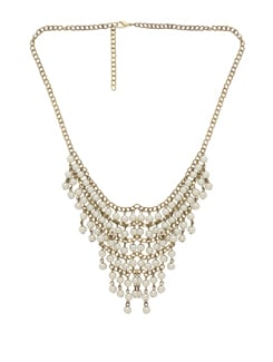 Chunky Gold Necklace With Pearls - THE PARI