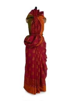 Elegant Magenta Silk Kota Saree - Aryaneel