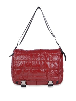 Red Quilted Sling Bag - Bags By Just Women