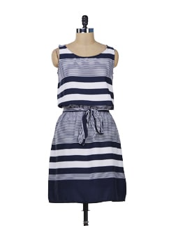 Chic Striped Dress - Color Cocktail