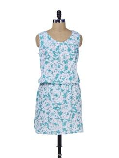 Feminine Printed Dress - Color Cocktail