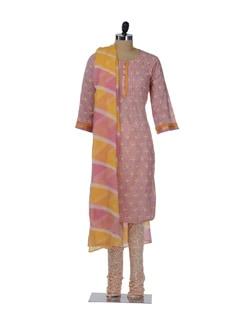 Elegant Pink & Yellow Suit - KILOL