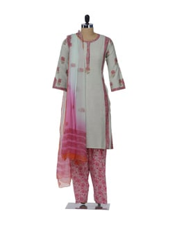 Designer Printed Floral Suit - KILOL