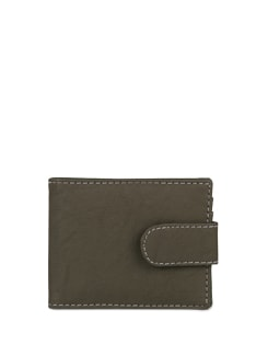 Chic Grey Pouch Wallet - ALESSIA