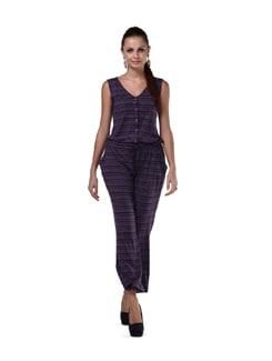 Striped Long Jumpsuit - Cottinfab