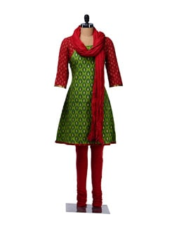 Charming Printed Cotton Suit - KURTAWALA