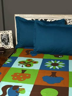 Kids Printed Double Bedsheet With 2 Pillow Covers - HOUSE THIS
