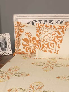 Floral Print Double Bedsheet With 2 Pillow Covers - HOUSE THIS