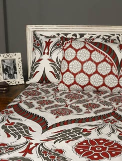 Printed Cotton Double Bedsheet With 2 Pillow Covers - HOUSE THIS