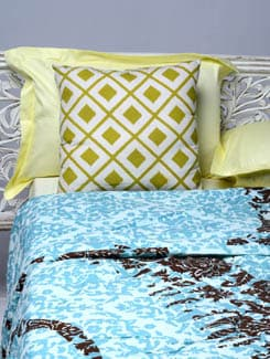 Blue Printed Double Comforter - HOUSE THIS