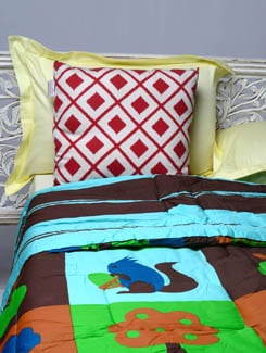 Nature Print Double Comforter - HOUSE THIS