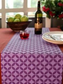 Eden Circles Print Table Runner- Purple - HOUSE THIS