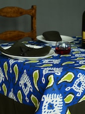 Paisley Print  Blue Set Of - 6 Seater Table Cover + 6 Napkins - HOUSE THIS