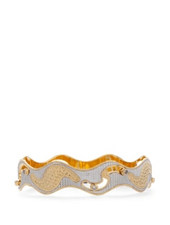 Trendy Golden And Silver Bangle - Vendee Fashion