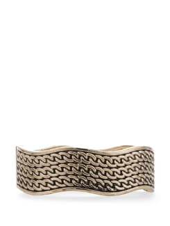 Chain Style Wide Bangle - Vendee Fashion