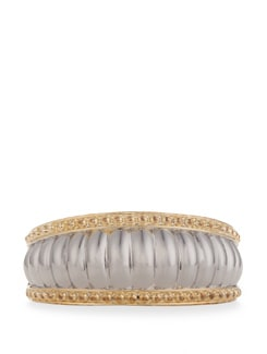 Rimmed Bangle With Golden Edges - Vendee Fashion