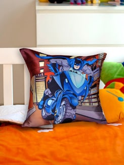 Comic Quirk Batman Cushion Cover - Warner Brothers By Mesleep